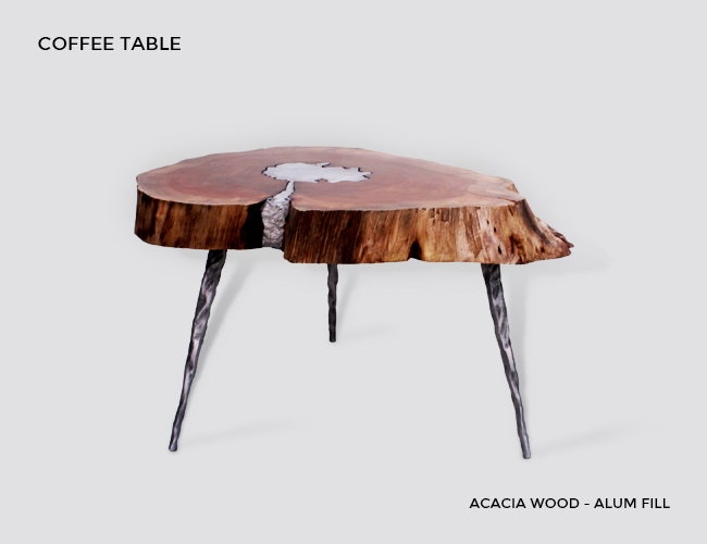 Molten Metal Wood Furniture At Aglow Exports Inc Coffee Table Side End Cast Aluminum